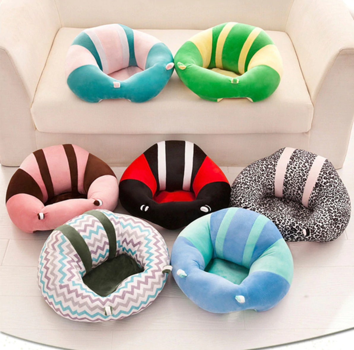 A baby sofa for your darling to enjoy shows with you safely